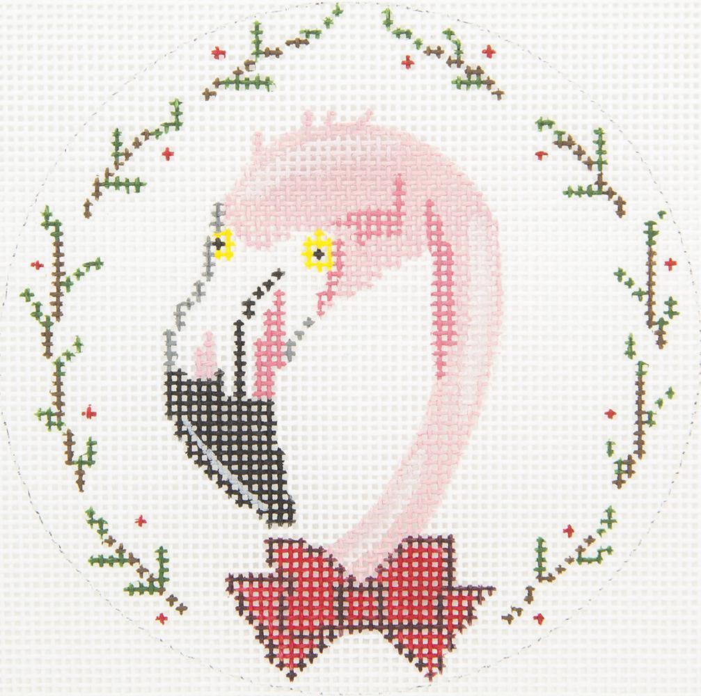 ZIA85 Flamingo in Bowtie 4 Round Danji Designs
