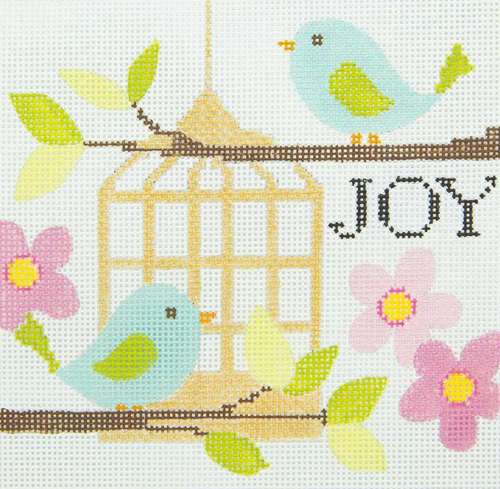 N127 Joy Birds and Birdcage