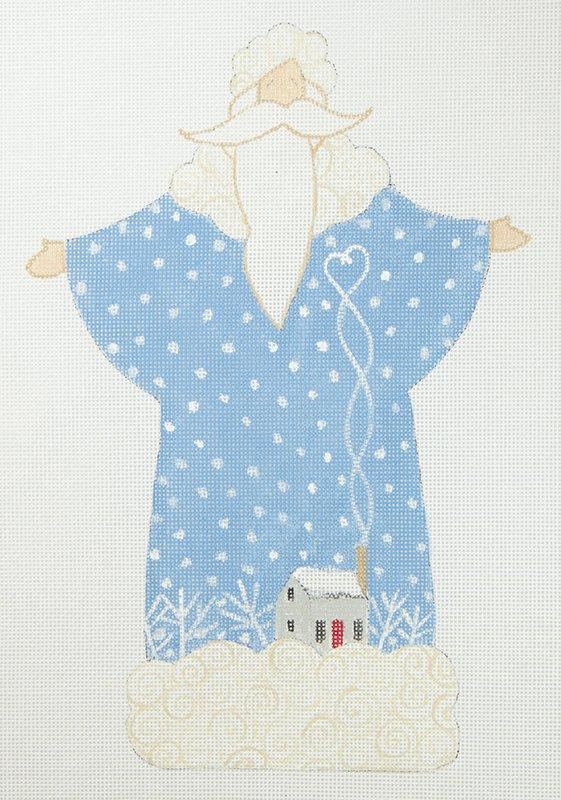 CB Santa Blue Coat with Snow House