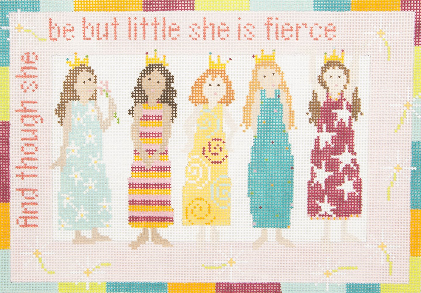 PF027 Princesses And though she may be little she is fierce JL Canvas Company