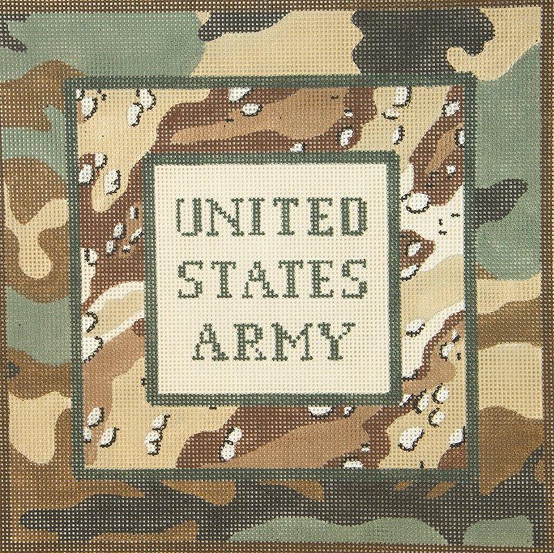HPDN192A US Army Retro Camo JP Needlepoint