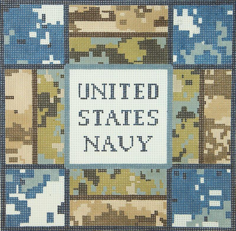 JPDN192C US Navy Camo JP Needlepoint