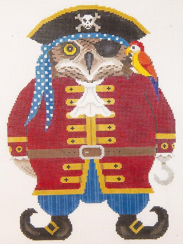JPB233 Pirate Halloween Hooter JP Needlepoint