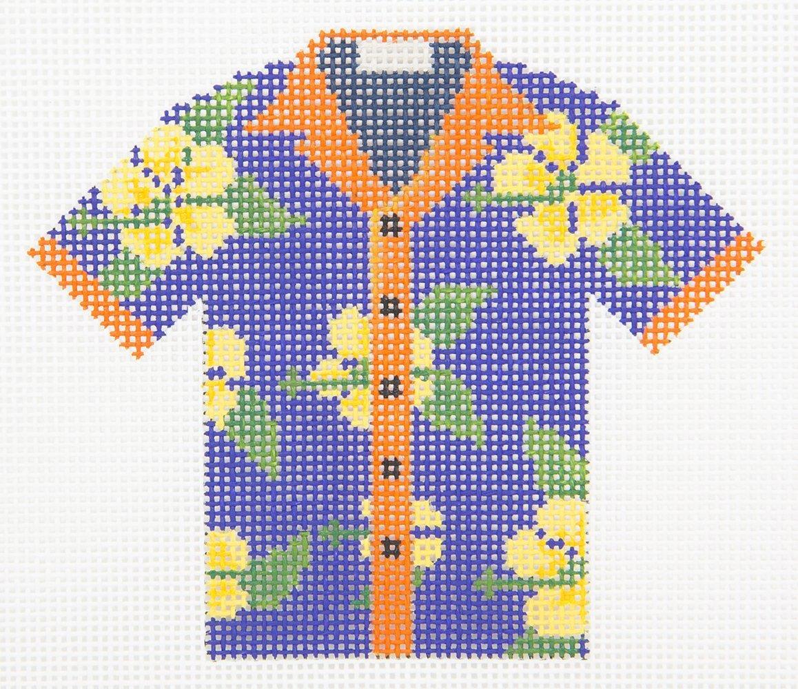L651 Yellow Hibiscus Hawaiian Shirt