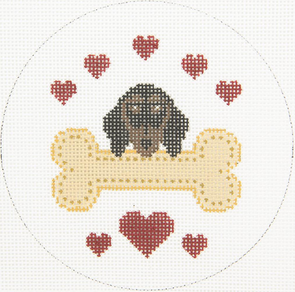 X334 Spaniel Rescue Dog Bone JP Needlepoint