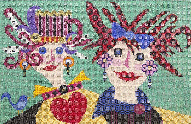 MJ005 Crazy Ladies JP Needlepoint