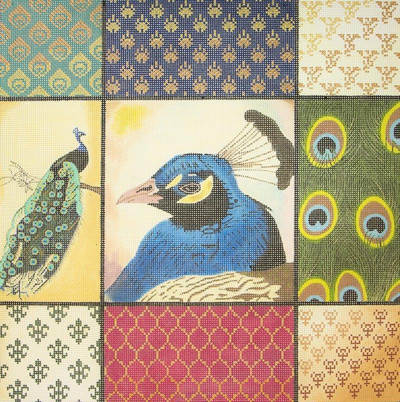 L1080 Peacock Squares