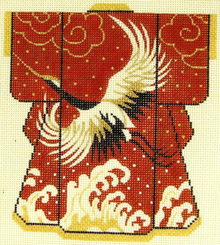 KB04 Kimono Red Crane