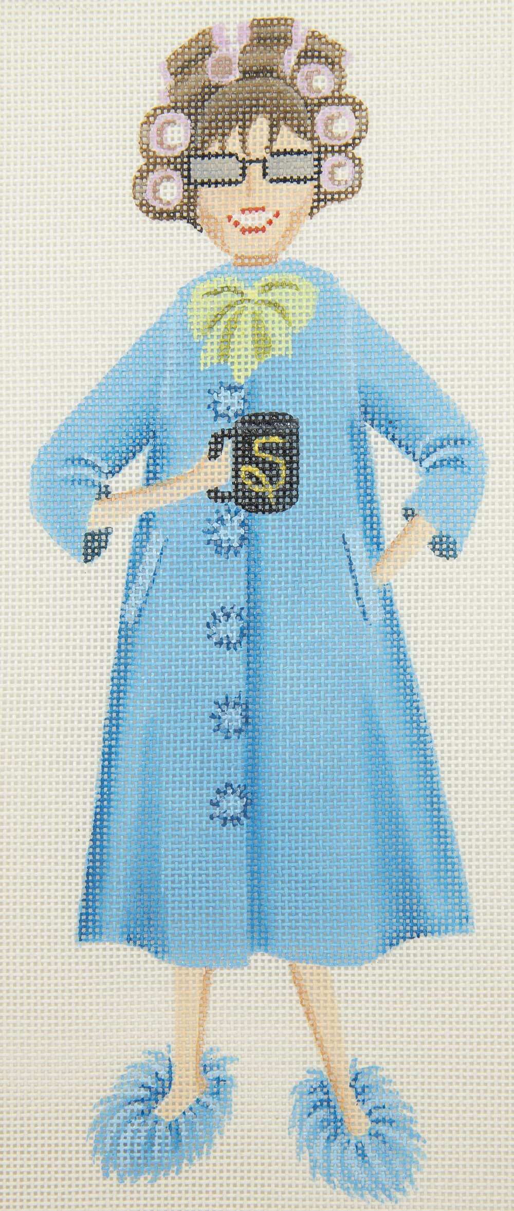 LD5060 Sally in Pajamas and Curlers with Stitch Guide Leigh Designs