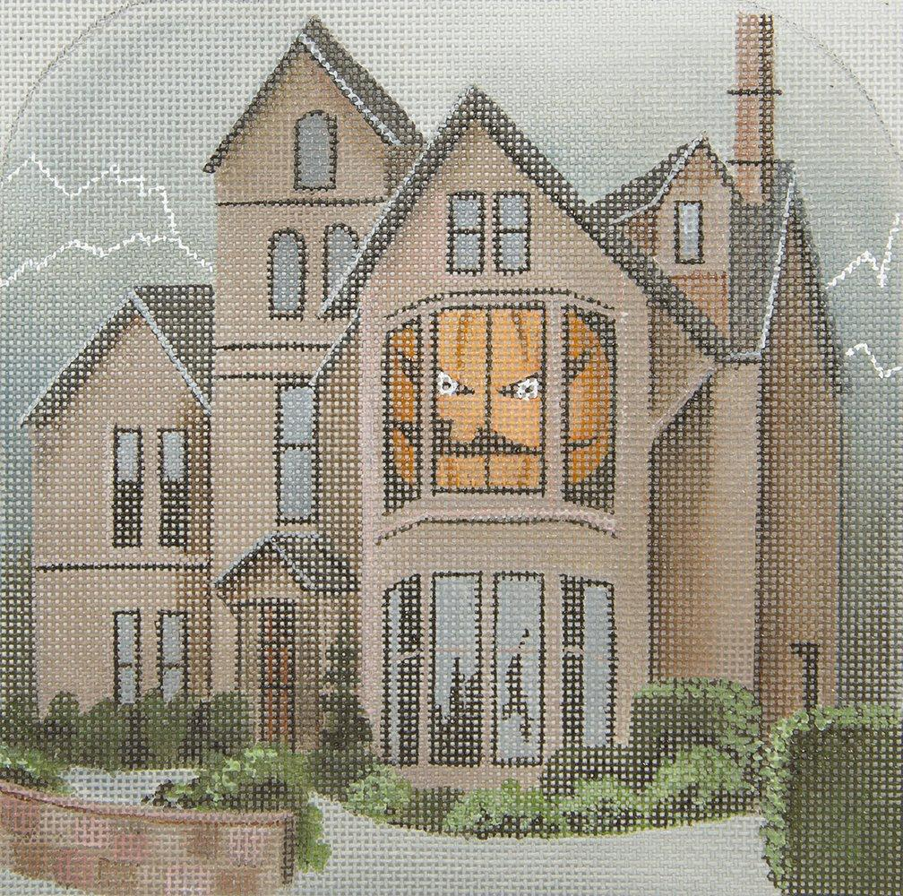 LD5212 Jack O Lantern Lane with Stitch Guide Leigh Designs