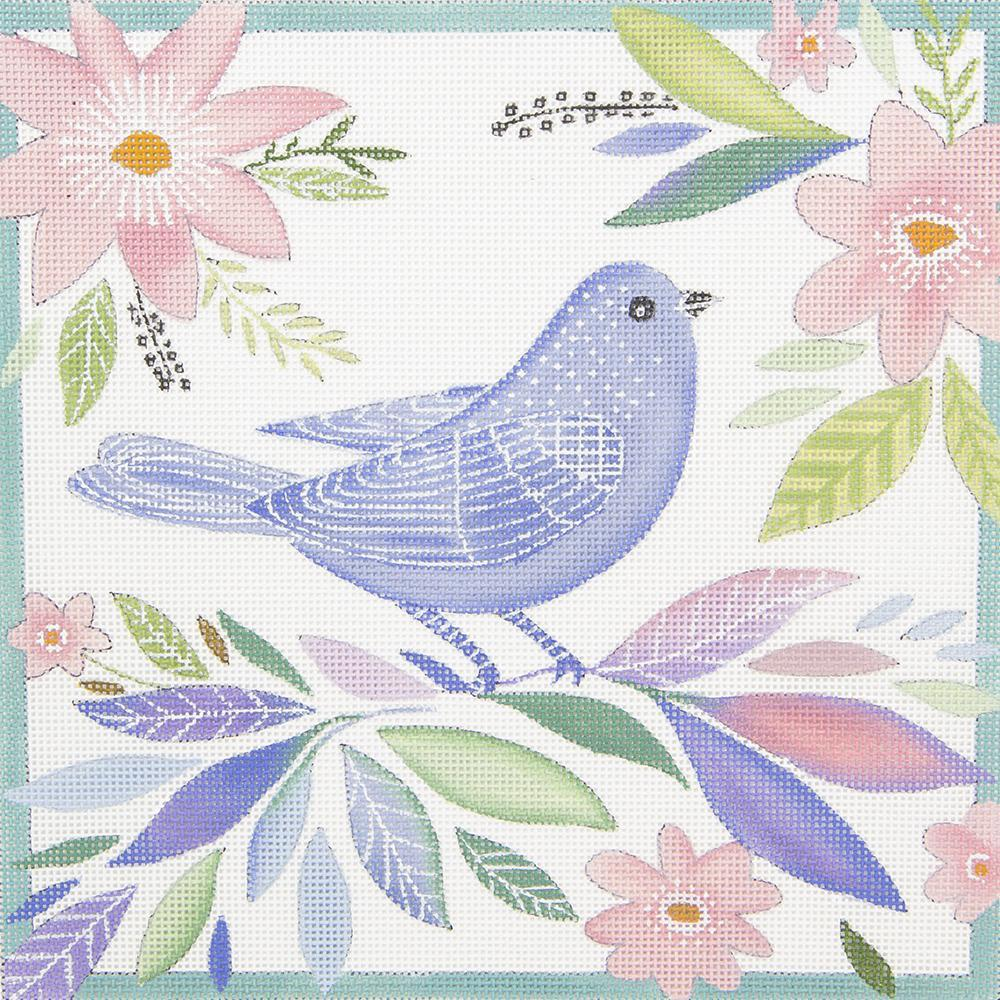 EV03 Blue Bird Pink Flowers Love You More
