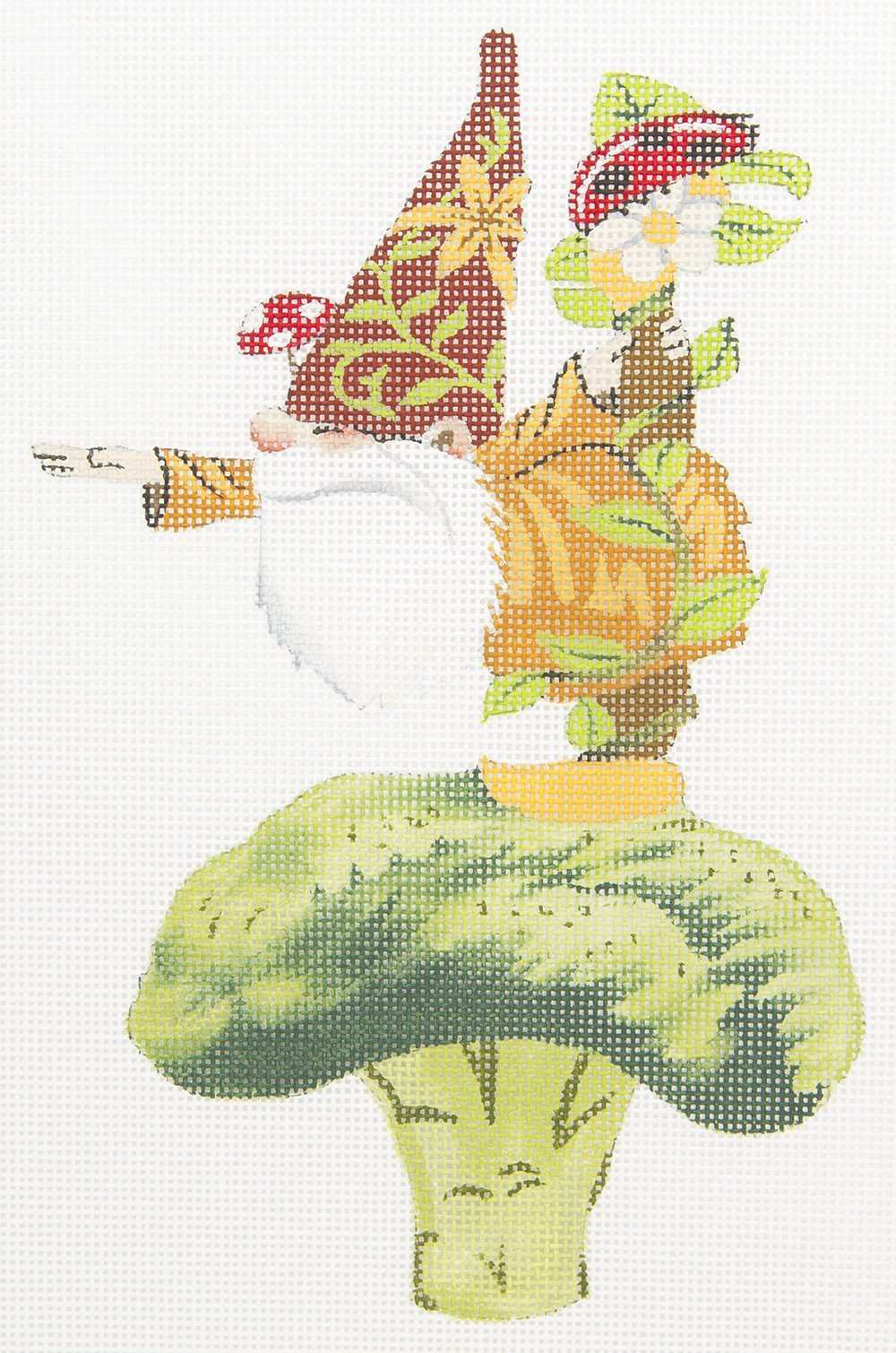 GA21 Gnome on Broccoli Love You More