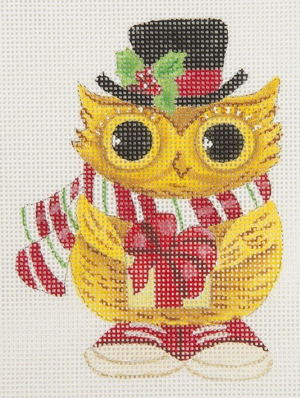 GAX01LYM Owl with Present