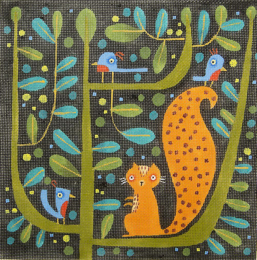 M2037 Squirrel and Birds Maggie & Co.