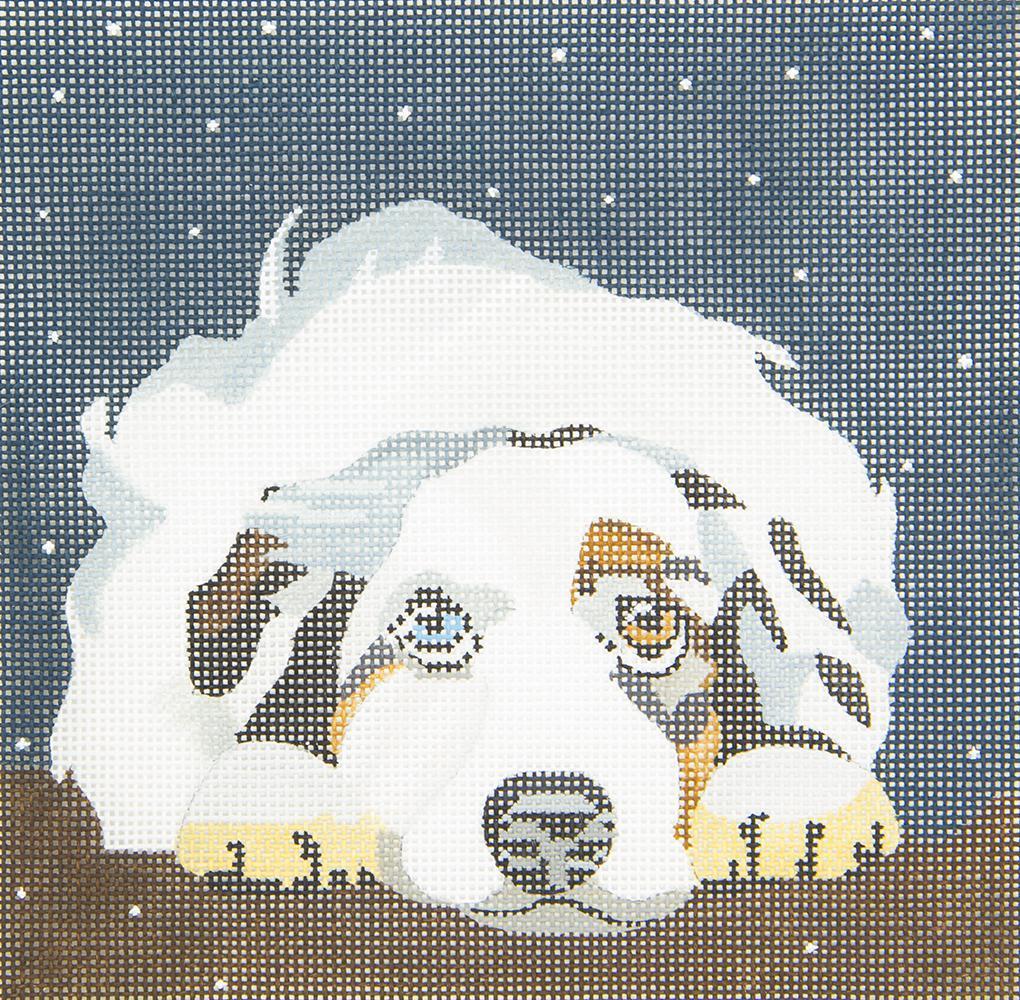 D10 Aussie Watching Snow Melissa Prince Designs
