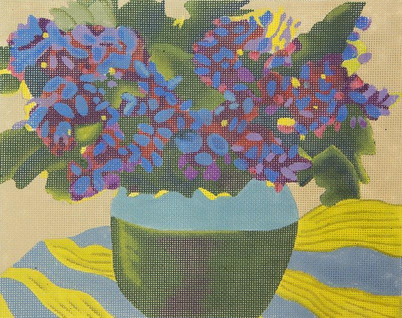 AOG118 Royal Blue Flower Arrangement