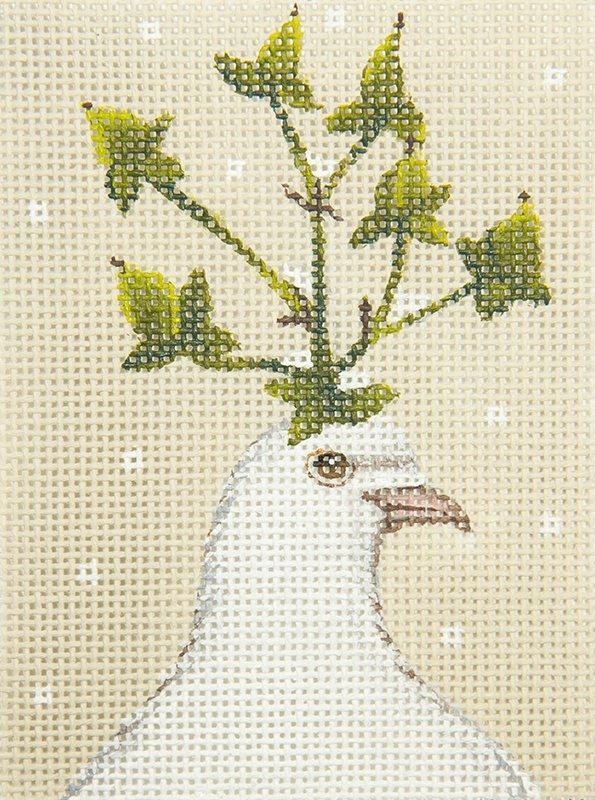 VS229C White Dove w Ivy Hat
