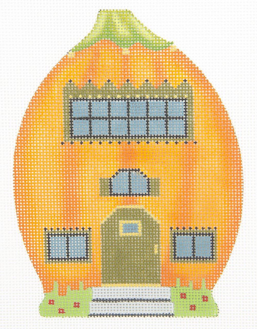 MS2170B Pumpkin Houses Green Door Melissa Shirley Designs