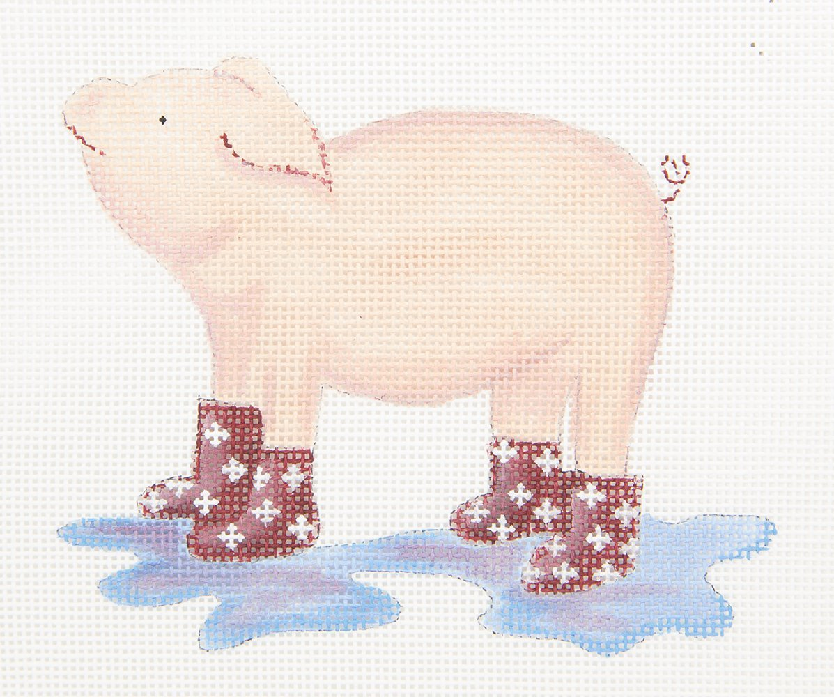 ME9 Pig in Boots Oasis Needlepoint