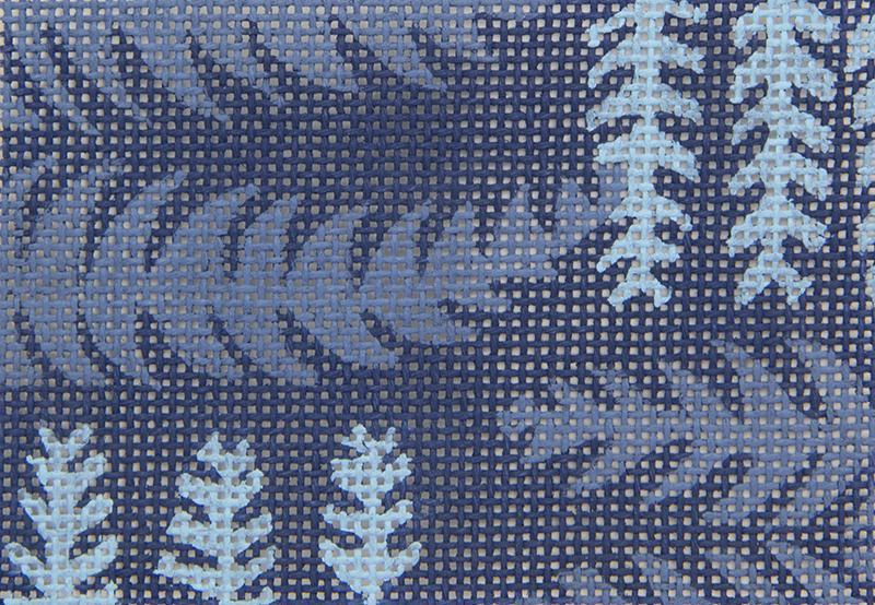 OIN7 Blue Leaf Design
