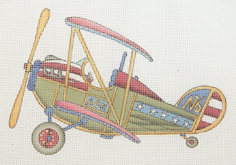 TBPL01 Airplane Bi-Plane Painted Pony