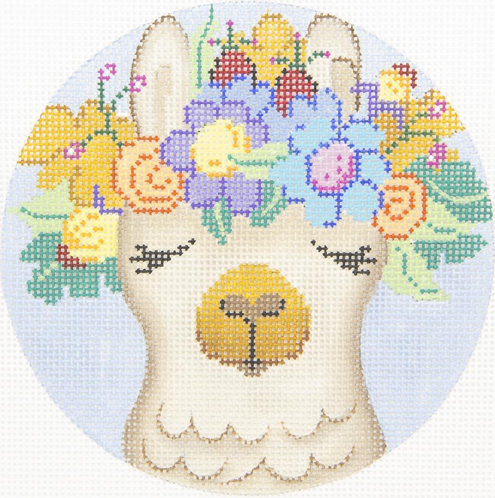 PM4203 Llama Flower Hat Patti Mann