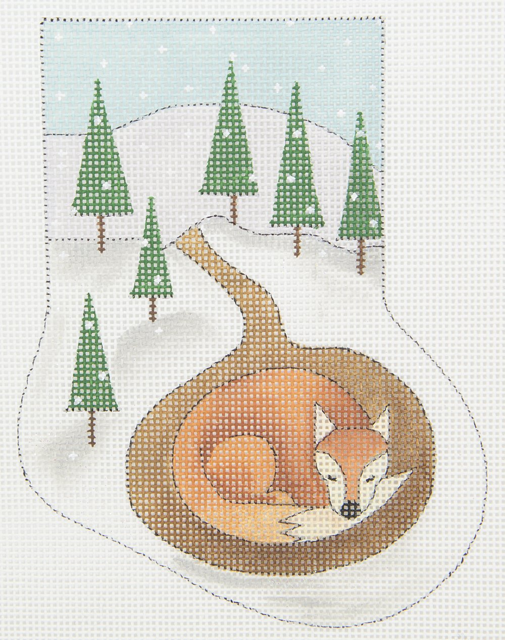 MNS275 Sleeping Fox Mini Stocking Renaissance