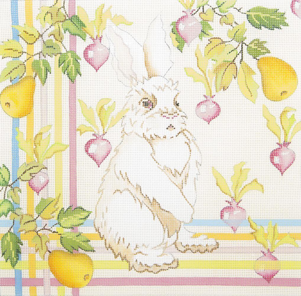 RR31 Bunny with Radishes and Pears Strictly Christmas