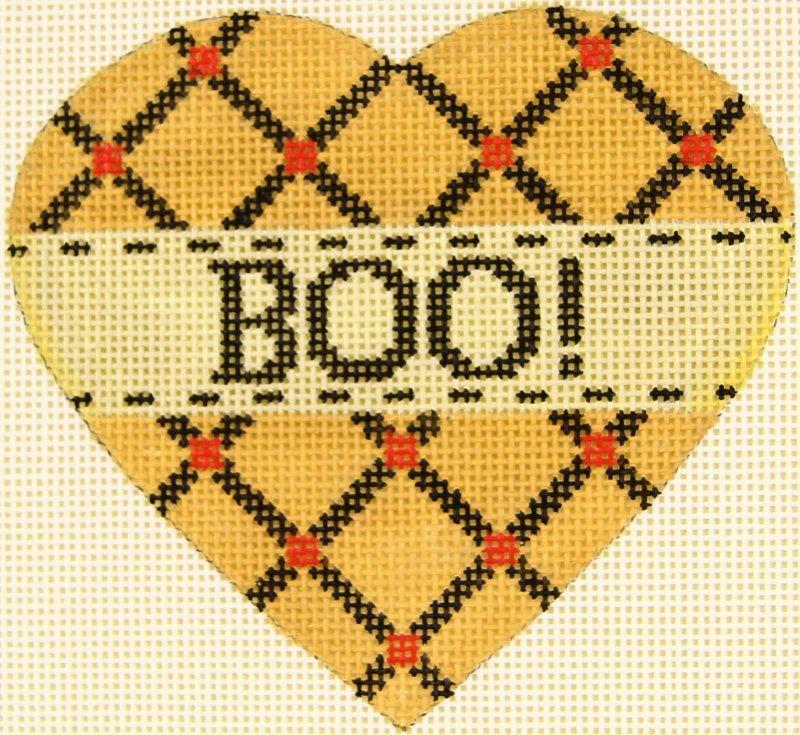 MS1942H Pumpkin Heart Boo!
