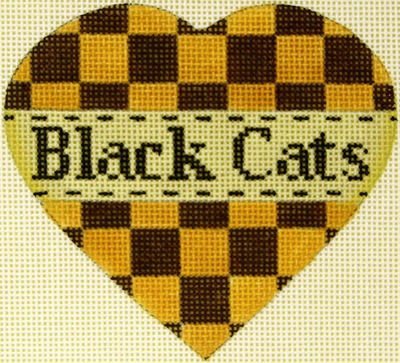MS1942F Pumpkin Heart Black Cats
