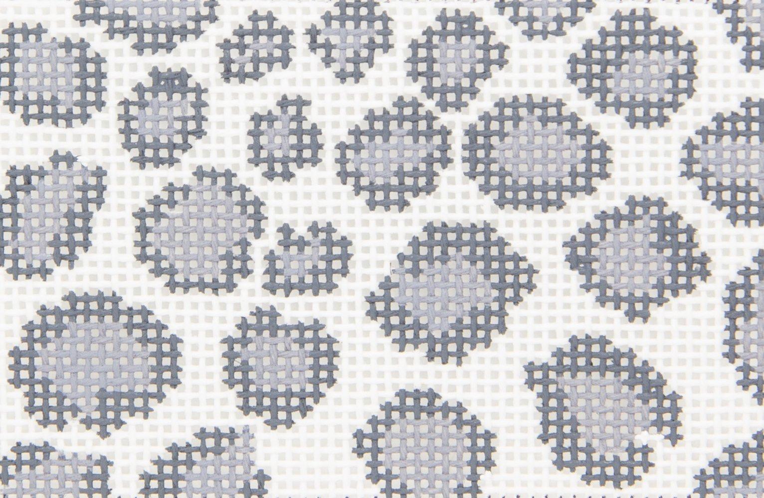 SR7995 Leopard Spots Gray Insert Susan Roberts Needlepoint