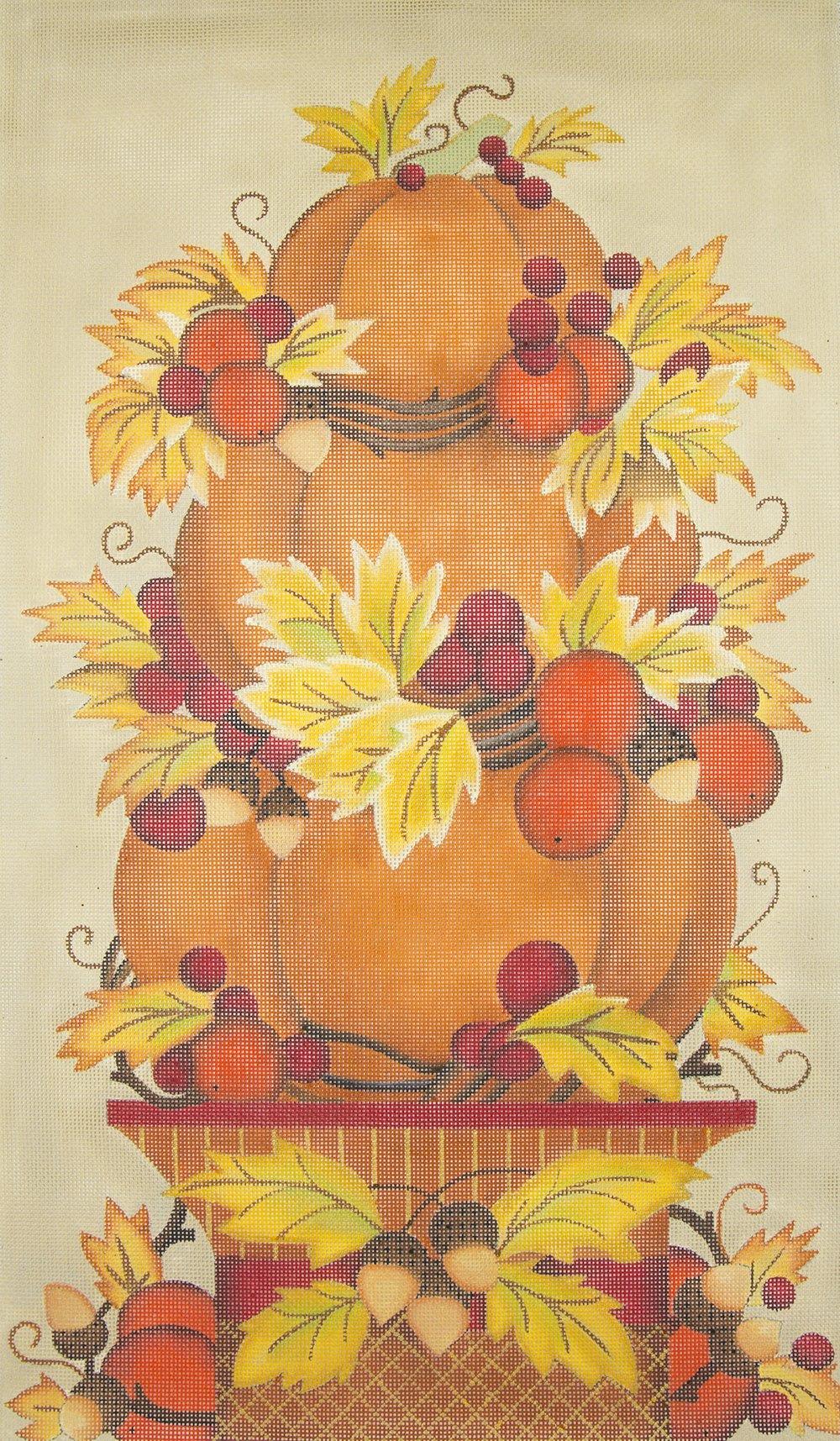 MS2064 Stacked Fall Pumpkins Melissa Shirley