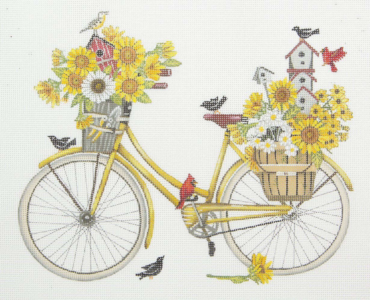 MLT460 Bike Carrying Flowers and Birds Melissa Shirley