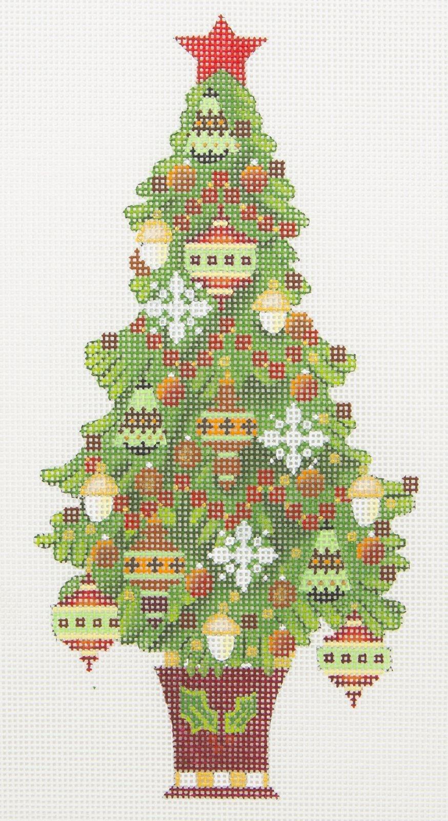 MS2091C Red Star Christmas Tree Melissa Shirley