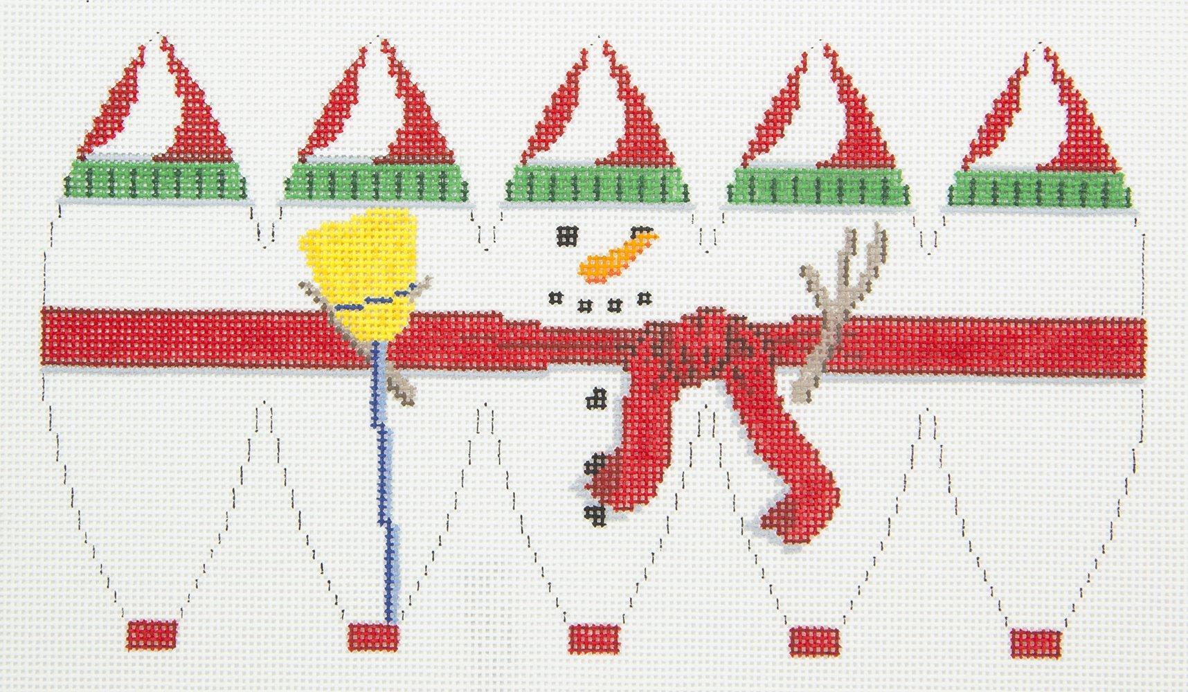 SR5282 Snowman Ornament 3D Hot Air Balloon Susan Roberts
