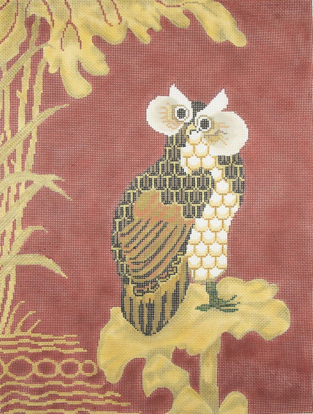 O381 Oriental Owl Tapestry Fair