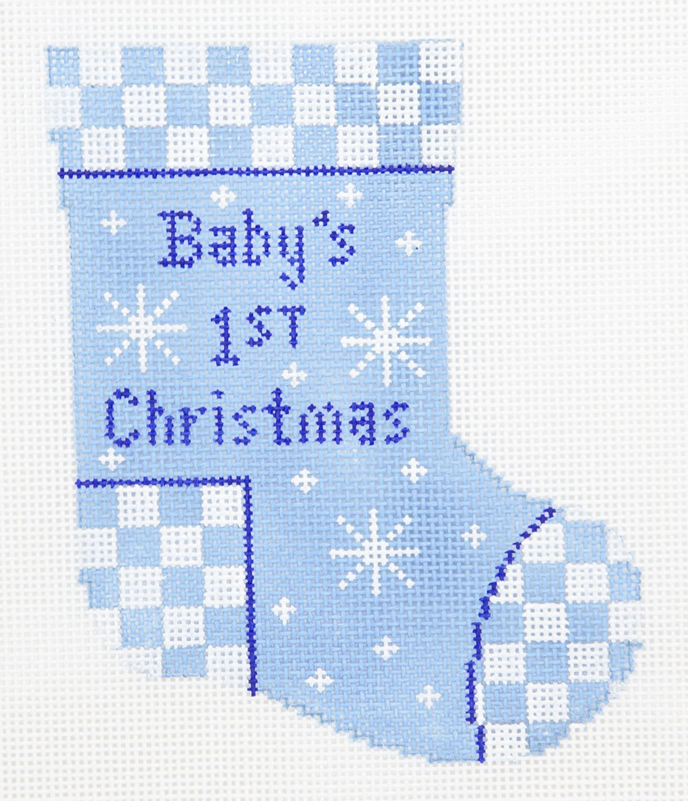 MS3 Baby Boy First Christmas Mini Stocking The Collection