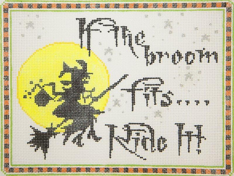 MC5177 If the Broom Fits...Ride It Halloween Sign Meredith Collection