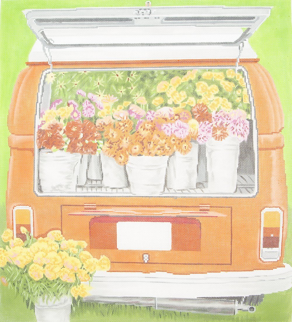 C589 Van Full of Flowers Meredith Collection