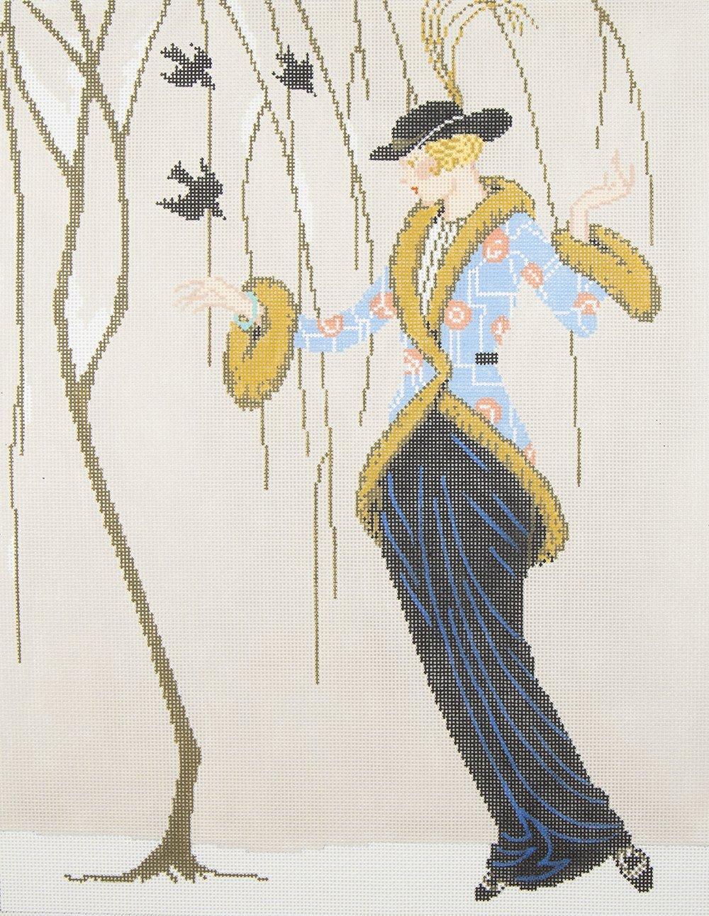 C555D Art Deco Snow Birds Meredith Collection