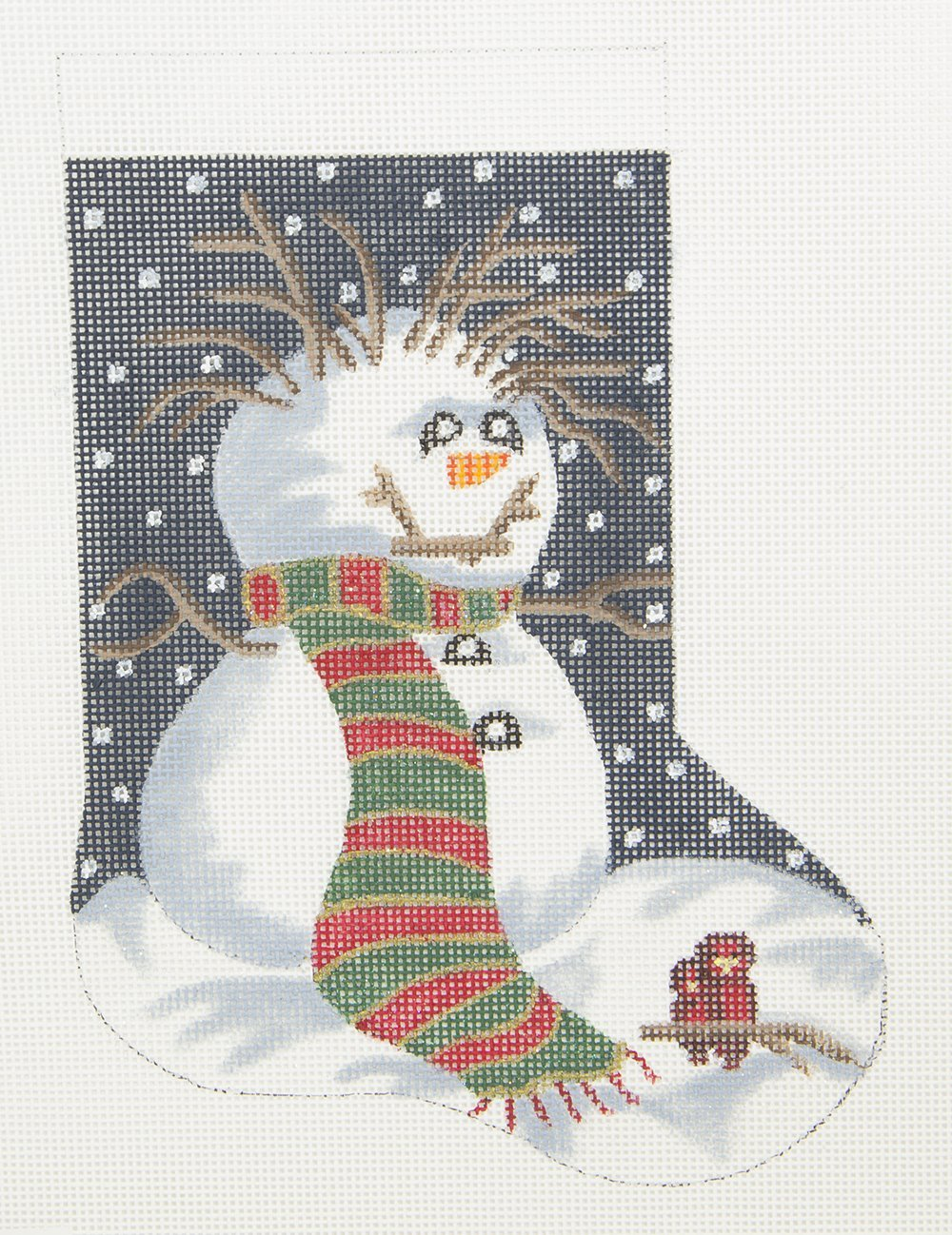 XOAV003 Snowman and Cardinals Mini Sock POIAD