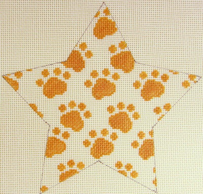 WG12363 Gold Paws Star Orn