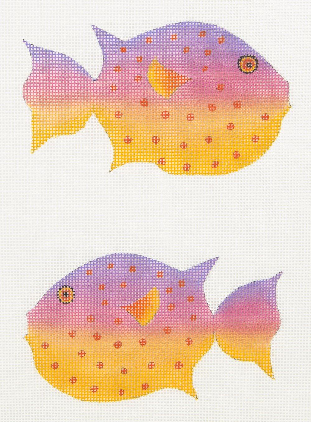 ZE609 Puffer Fish 2 Sided Zecca