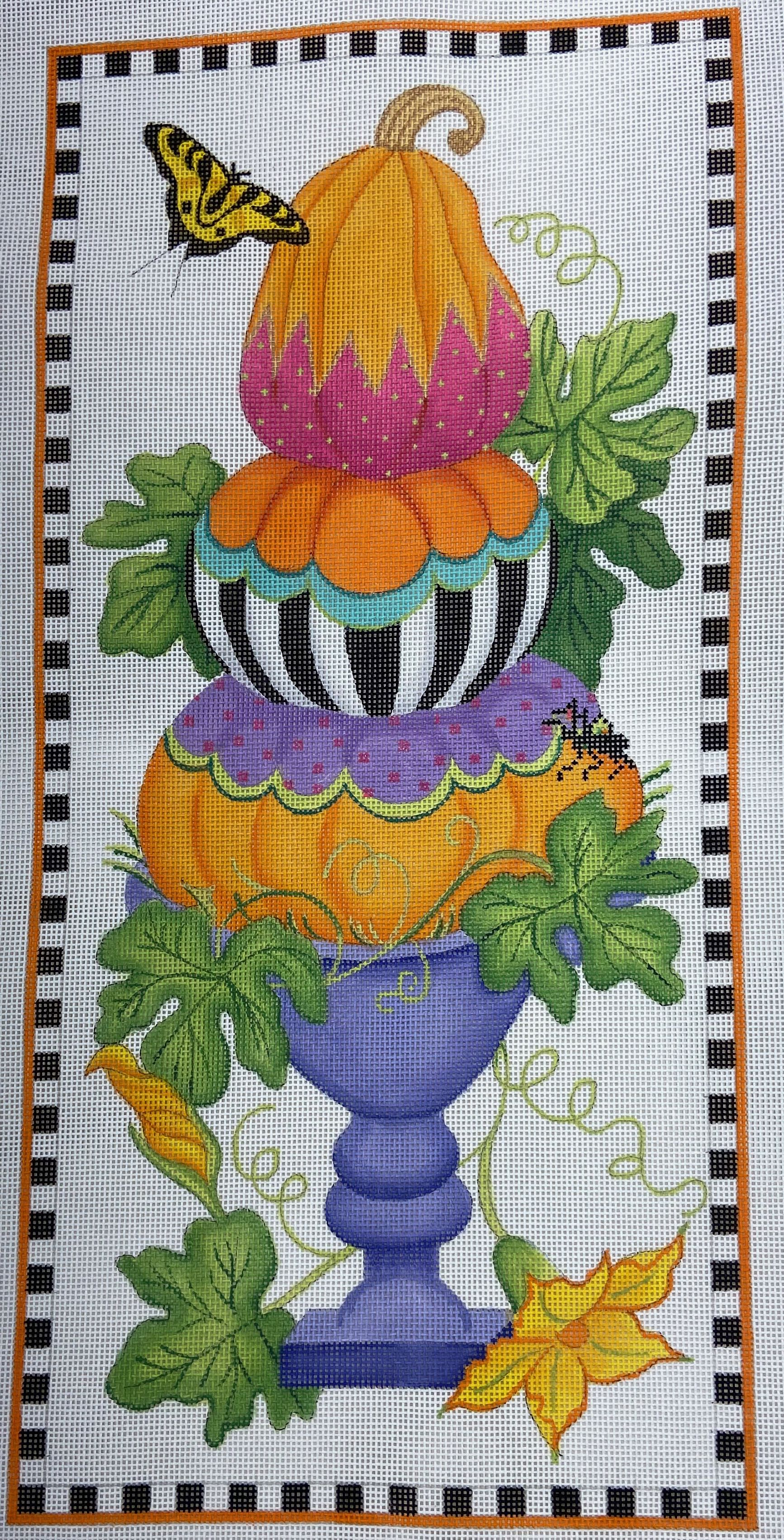 PL436 Funky Punkins Tall Topiary Kate Dickerson