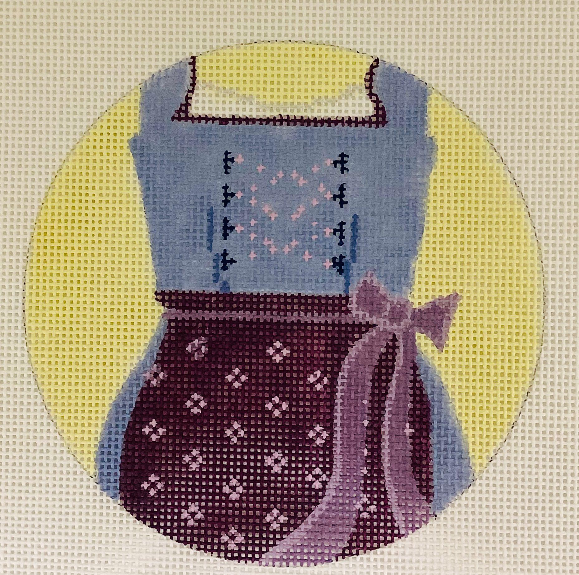 R1 Dirndle Skirt Oktoberfest Ornament Blue Ridge Stitchery
