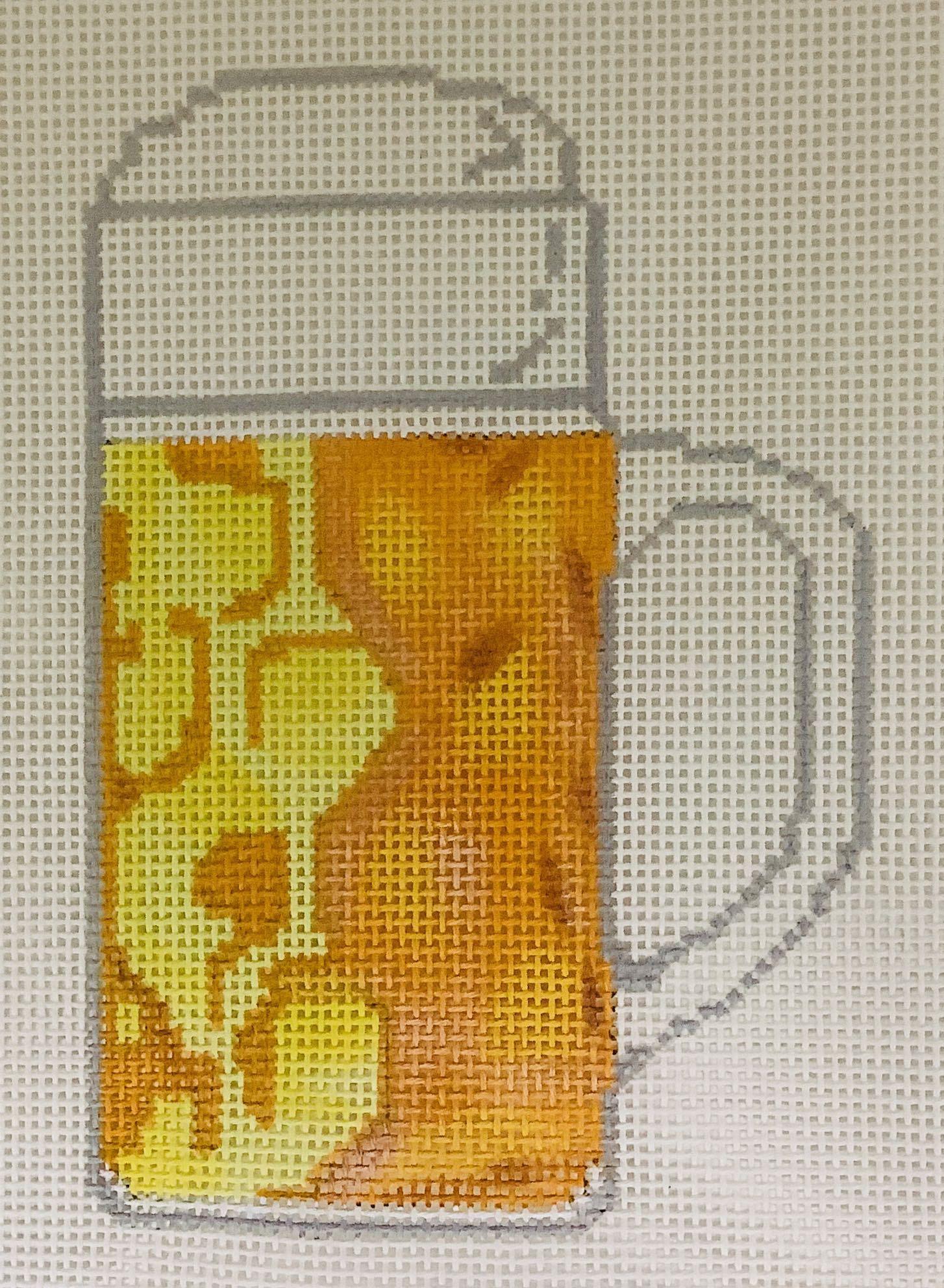 R7 Oktoberfest Beer Stein Ornament Blue Ridge Stitchery