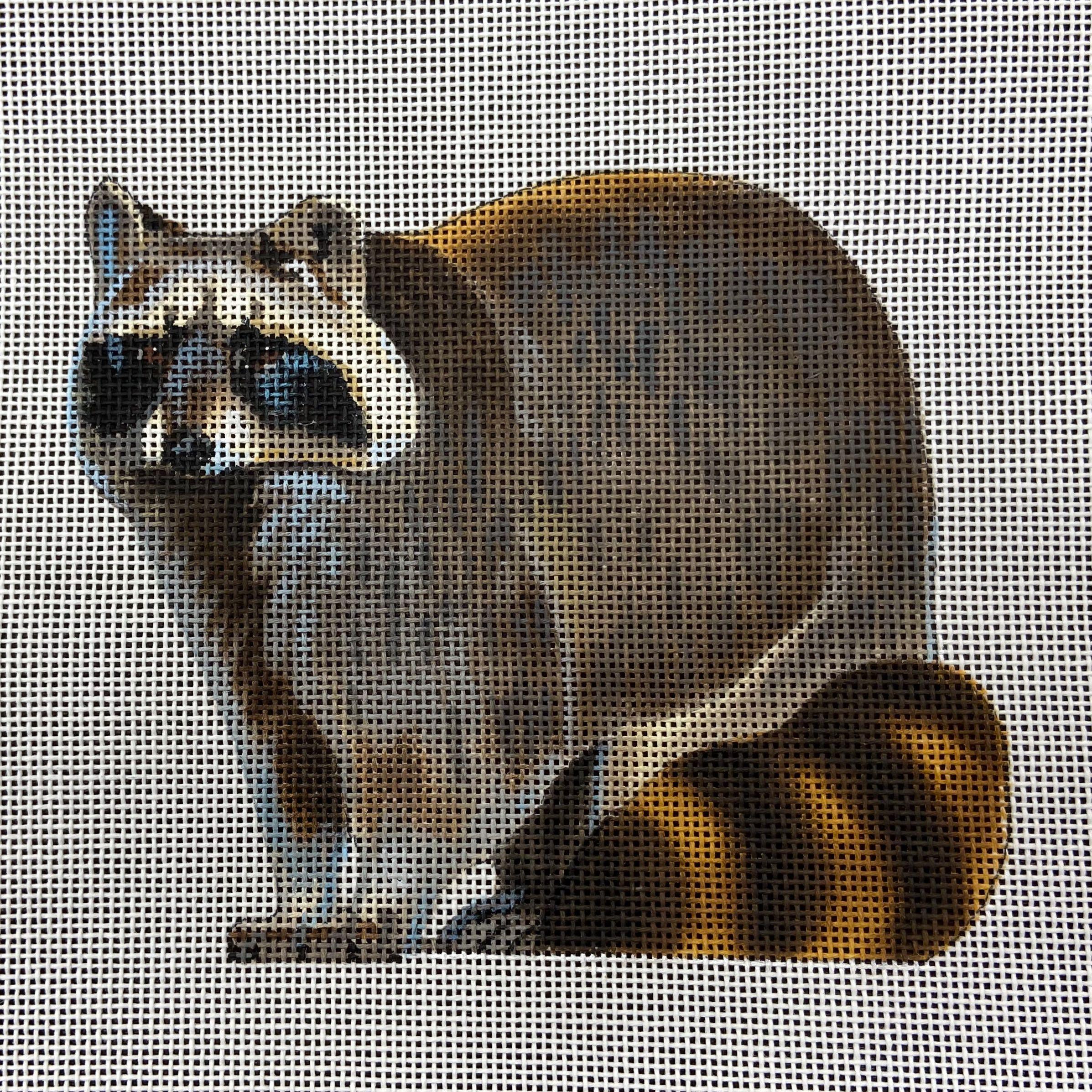 LGDASP417 Raccoon Susan Roberts Needlepoint