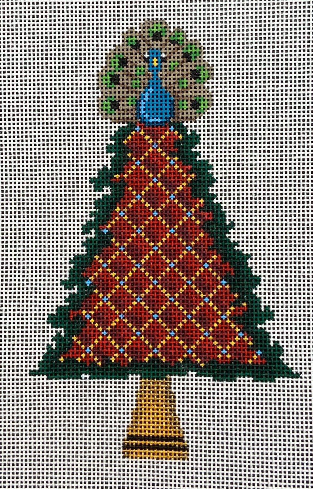 PM85021 Peacock on Tree Ornament Patti Mann