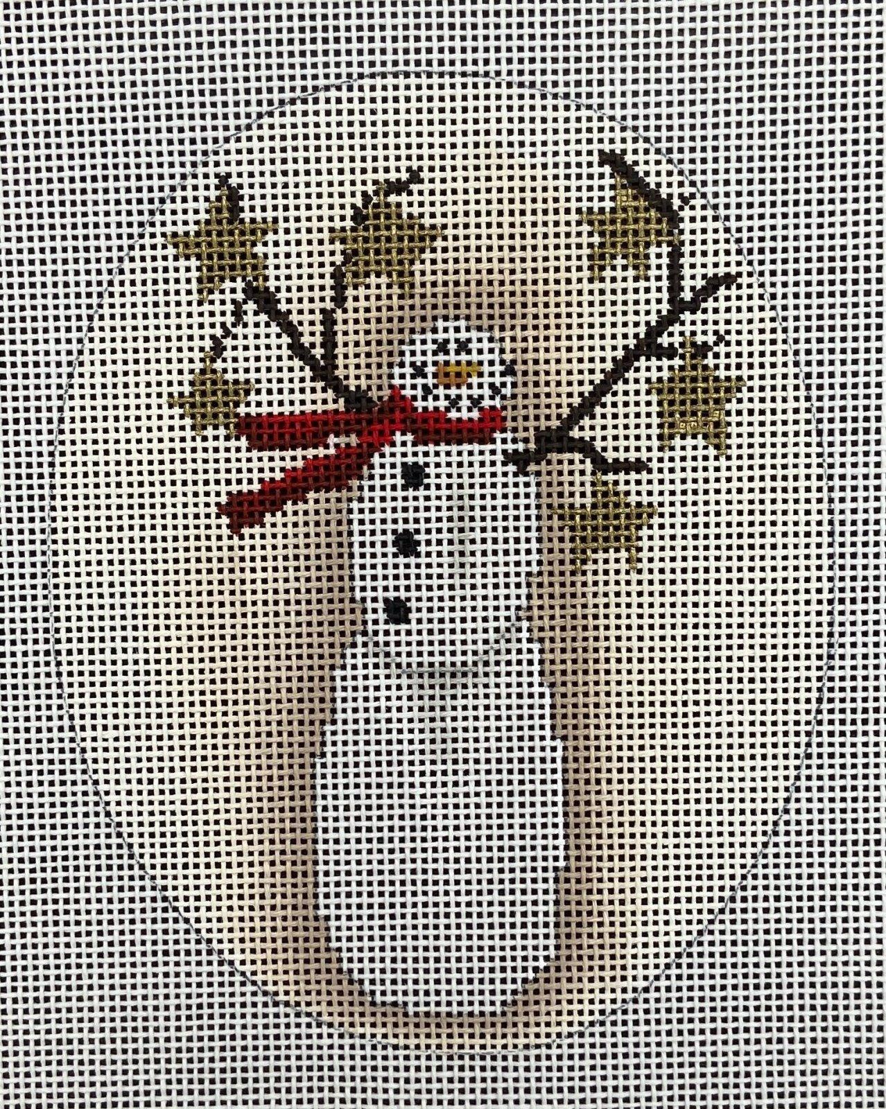 KMHXO07 Starry Snowman Ornament CBK Needlepoint Collections
