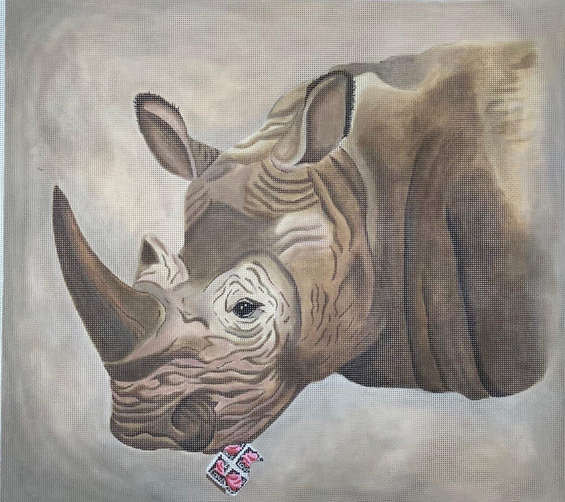 ZDBB Stamp-Eat Rhino Zoo-Illogical